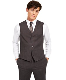 I.N.C. Men's Slim-Fit Crosshatch Suit Vest, Created for Macy's
