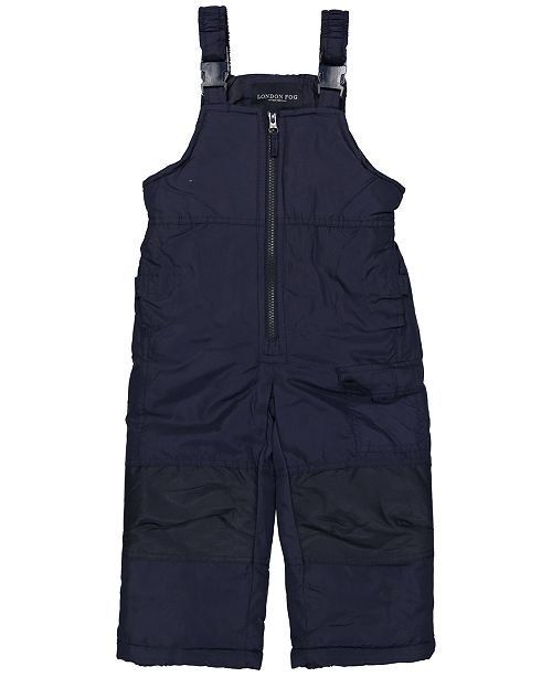 London Fog Little Boys Zip-Front Snowbib