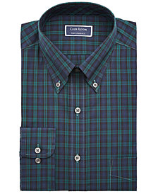 Club Room Men's Big & Tall Classic/Regular-Fit Wrinkle-Resistant Blackwatch Plaid Dress Shirt, Created For Macy's