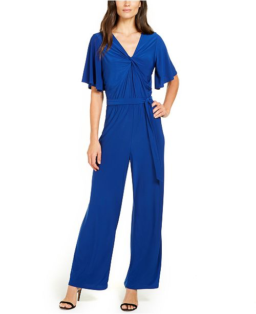 NY Collection Petite Twist-Front Jumpsuit