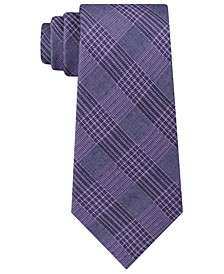 Men's Graphite Classic Plaid Tie