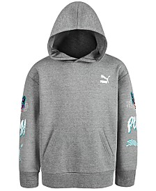 Puma Big Boys Graphic-Print Fleece Hoodie
