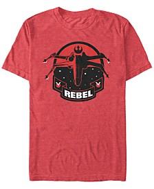 Star Wars Men's Classic Rebel Fighter Logo Short Sleeve T-Shirt