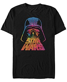 Men's Classic Tie Dye Darth Vader Helmet Short Sleeve T-Shirt