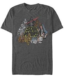 Star Wars Men's Classic Group Cartoon Logo Short Sleeve T-Shirt