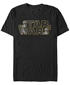 Star Wars Men's Galaxy Background Logo Short Sleeve T-Shirt