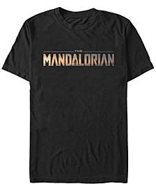 Fifth Sun The Mandalorian Title Fill Logo Short Sleeve Men's T-shirt