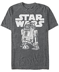 Men's Classic Simple R2-D2 Short Sleeve T-Shirt