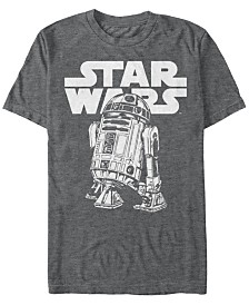 Star Wars Men's Classic Simple R2-D2 Short Sleeve T-Shirt