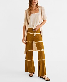 Mango Ribbed Long Cardigan Sweater