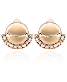 Button Clip Earring