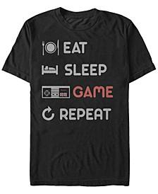 Men's NES Eat Sleep Game Repeat Short Sleeve T-Shirt