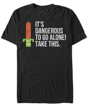 Nintendo Men's Legend of Zelda It's Dangerous Take This Pixelated Sword Short Sleeve T-Shirt