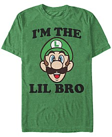Nintendo Men's Super Mario Lil Bro Short Sleeve T-Shirt