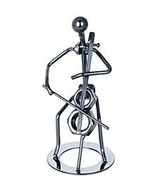 Metal Cello Figurine Player