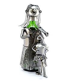 Lady Hair Dresser Wine Bottle Holder