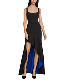 BCBGMAXAZRIA Flounce High-Low Gown