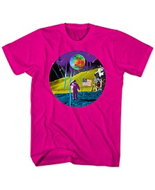 Neon Moon Landing Men's Graphic T-Shirt
