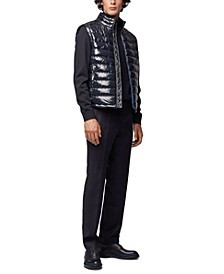 BOSS Men's Water-Repellent Padded Gilet Vest