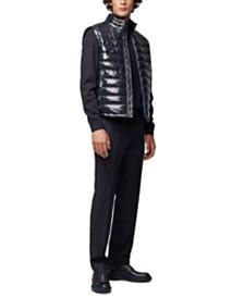 BOSS Men's Water-Repellent Padded Gilet Vest