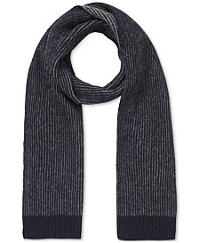 BOSS Men's Kosterin Two-Tone Rib-Knit Scarf