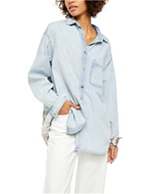 Free People Echo Rock Button Down Shirt
