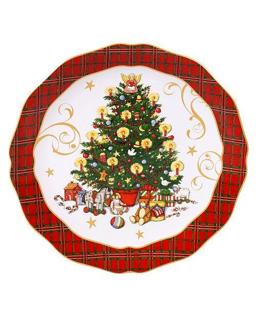 Certified International Vintage Santa Round Platter