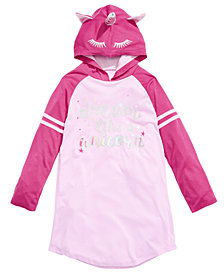 Max & Olivia Little & Big Girls Hooded Unicorn Nightgown