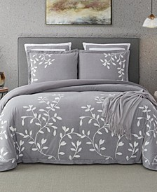 Laurel Park Autumn Chain Embroidered Cotton Queen Comforter Set