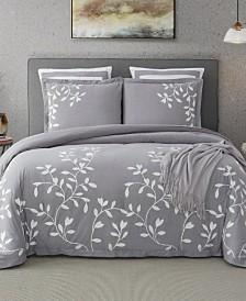 Laurel Park Autumn Chain Embroidered Cotton Queen Comforter Set