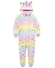 Toddler Girls 1-Pc. Unicorn Hooded Coverall Pajamas