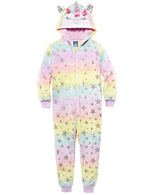 Max & Olivia Little & Big Girls Unicorn Fleece Coverall Pajama