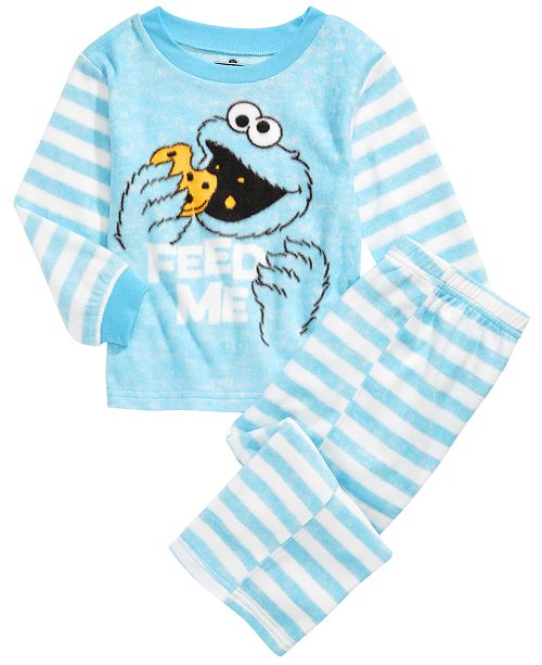 AME Toddler Boys 2-Pc. Cookie Monster Fleece Pajamas Set