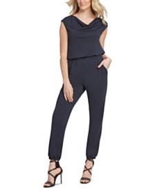DKNY Cap-Sleeve Jumpsuit