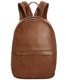 Men's Faux-Leather Dome Backpack