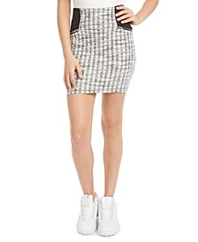 Juniors' Plaid Jacquard Mini Skirt, Created for Macy's