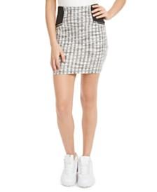 Material Girl Juniors' Plaid Jacquard Mini Skirt, Created for Macy's