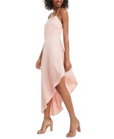 Material Girl Juniors' Asymmetrical-Hem Satin Dress, Created for Macy's