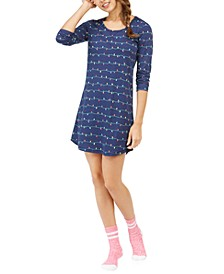 Printed Sleep Shirt and Sock Set, Created For Macy's