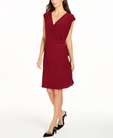 Alfani Hardware Wrap Dress, Created for Macy's