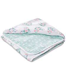 Baby & Toddler Girls Floral Heart Printed Cotton Blanket