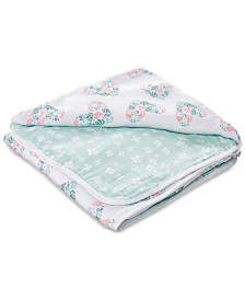aden by aden + anais Baby & Toddler Girls Floral Heart Printed Cotton Blanket