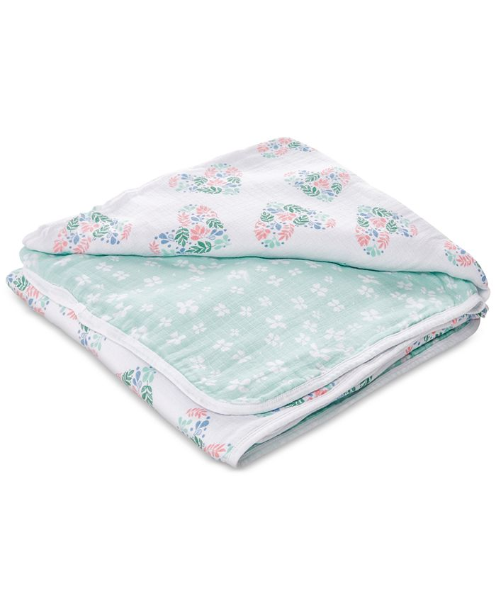aden by aden + anais - Baby & Toddler Girls Floral Heart Printed Cotton Blanket