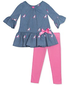 Rare Editions Baby Girls 2-Pc. Unicorn Tunic & Leggings Set