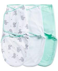 aden by aden + anais Baby Boys & Girls 3-Pk. Elephant Splash Cotton Wrap Swaddles
