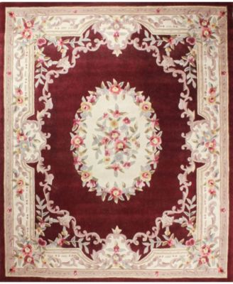 CLOSEOUT!  Palace Garden Aubusson Burgundy 2'6