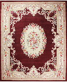 CLOSEOUT!  KM Home Palace Garden Aubusson Burgundy 8' x 10' Area Rug