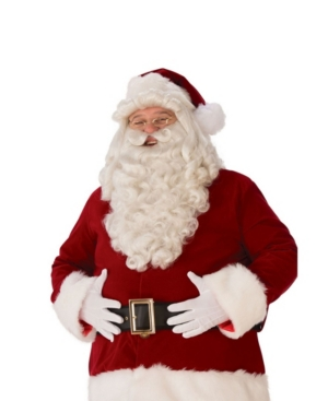 Men's Ultra Premium Santa Beard/Wig Set