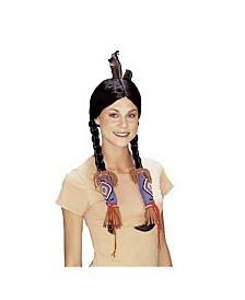 BuySeasons Women's Native American Wig