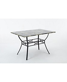 Bastian Collection Faux Marble Dining Table